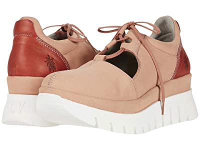 FLY LONDON BUMP129FLY (Nude Pink/Red Cupido/Janeda) Women