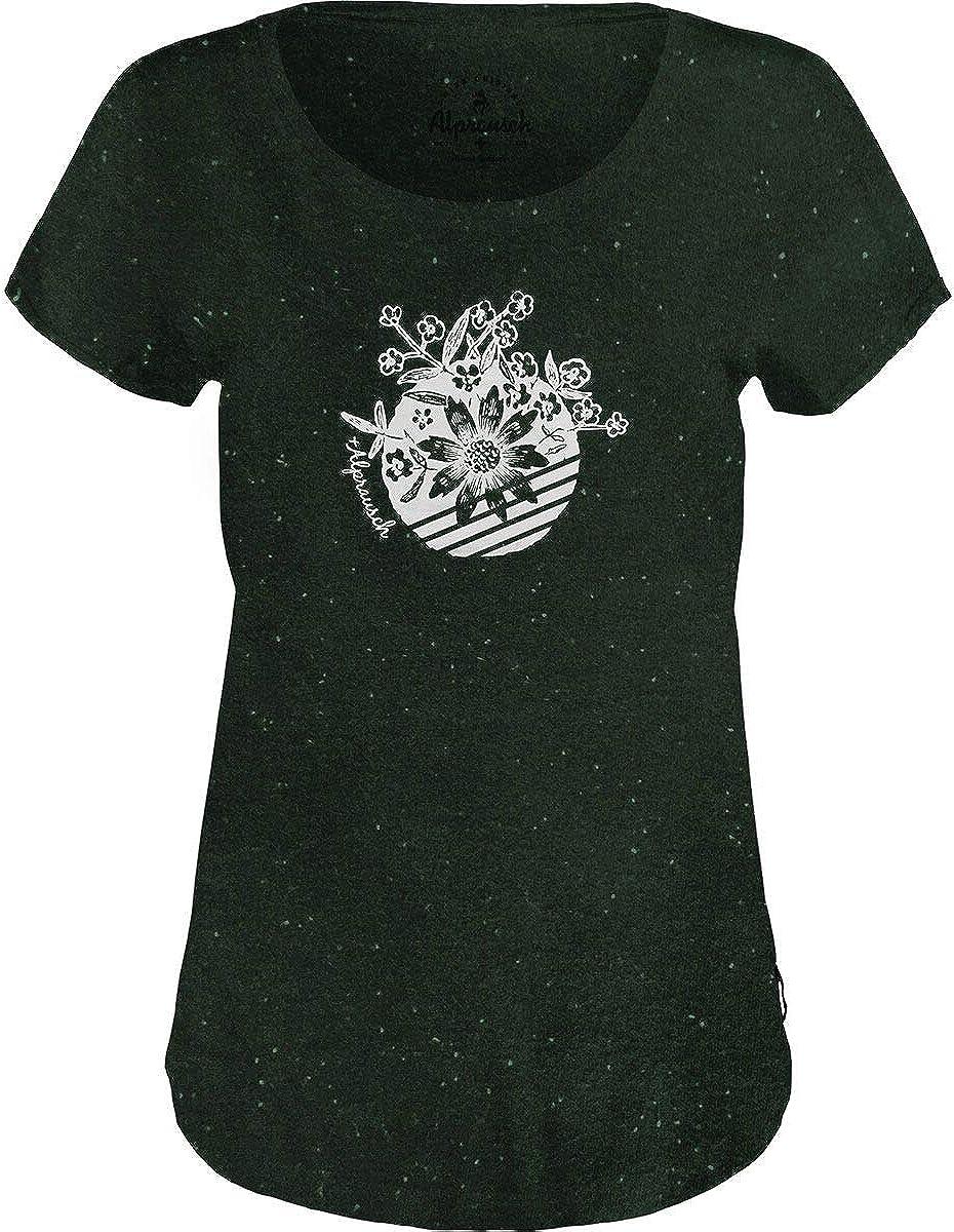 Alprausch T Shirt Damen Bluemechreis T-Shirt Sport Outdoor