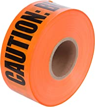Morris Products Underground Electrical Caution Tape – 3-inch Width – Detectable from 12-18 Inch Depths – Orange – Printed With Caution Buried Telephone Line Below – 1,000 ft. Length
