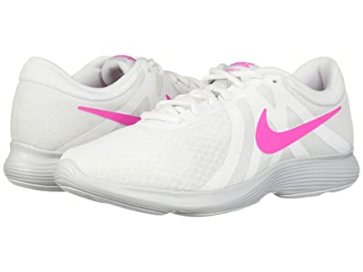 Nike Revolution 4 (White/Laser Fuchsia/Pure Platinum) Women