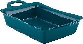 Rachael Ray Solid Glaze Ceramics Bakeware / Lasagna Pan / Baker, Rectangle - 9 Inch x 13 Inch, Teal
