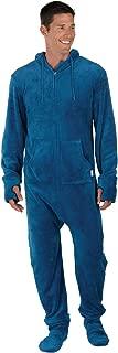 Fun Adult Onesie Men - Footed Pajamas for Men, Warm Fleece