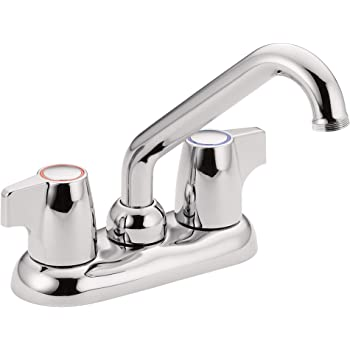 MOEN 74998 Chateau Two Handle 4-Inch Centerset Utility or Laundry Sink Faucet, 74998, Chrome