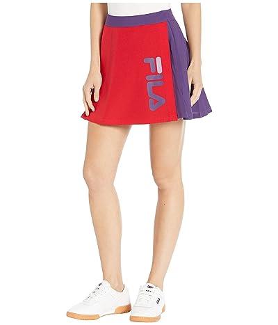 Fila Asami Skirt (Chinese Red/Crown Purple/Black) Women
