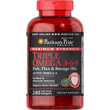 Amazon Com Webber Naturals Omega 3 6 9 High Potency 1200 Mg