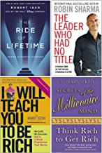 The Ride of a Lifetime, The Leader Who Had No Title, I Will Teach You To Be Rich, Secrets of the Millionaire Mind 4 Books ...