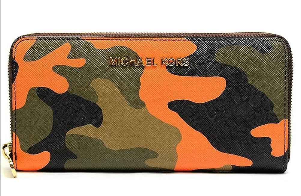 メトリックアウター胴体MICHAEL Michael Kors Jet Set Travel Camouflage Saffiano Leather Walletマイケルコースレザー長財布  並行輸入品