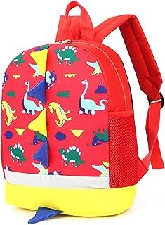 Toddler Backpack Anti Lost Red for Kindergarten Girls Harness Leash Dinosaur …