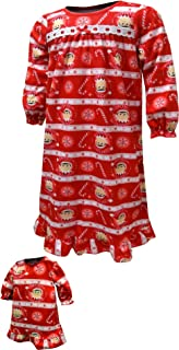 AME Sleepwear The Elf on The Shelf Scout Elf Granny Nightgown & Doll Gown - Girls (6), Red