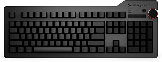 Das Keyboard 4 Ultimate Cherry MX Blue Clicky Mechanical Keyboard - Blank Keycaps