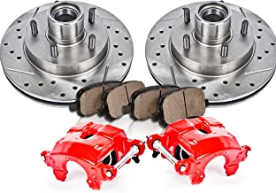 CCK12178 FRONT Powder Coated Red [2] Calipers + [2] Rotors + Quiet Low Dust [4] Ceramic Pads Performance Kit