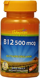 Thompson B-12 Tablets, 500 Mcg, 90 Count (Pack of 2)