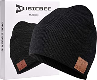 Bluetooth Beanie, MUSICBEE Bluetooth V5.0 Wireless Knit Winter Hats Cap with Detachable Built-in Mic and HD Stereo Speaker...