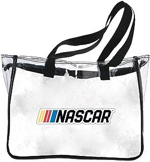R and R Imports NASCAR Clear Tote Bag-NASCAR Logo Reusable Shoulder Tote Bag