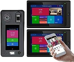 HBHYQ Sistema de intercomunicadores de la Puerta del teléfono de la Puerta del Video de la Puerta del teléfono 1080p 500 5...