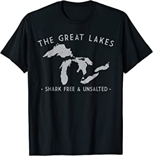 Great Lakes Shark Free and Unsalted T-Shirt Vintage Tee