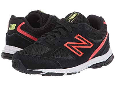 New Balance Kids IK888v2 (Infant/Toddler) (Black/Neo Flame) Boys Shoes