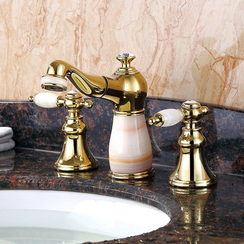 Good quality Antiquitten Becken Spül Mischer Tap Badezimmer Jade DREI-Loch Pull-up Becken Wasserhahn plattieren rostfreien hochwertigen Hause Becken Wasserhahn
