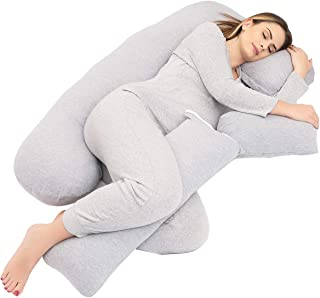 Pregnancy Pillows,Pregnancy Pillow U-Shaped Full Body ,Pregnancy Gifts Maternity Pillow Support Detachable Extension