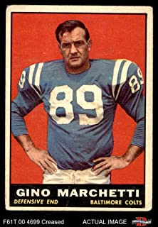 1961 Topps # 7 Gino Marchetti Baltimore Colts (Football Card) Dean`s Cards 3 - VG Colts