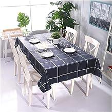GUOCU Mantel Antimanchas Fáciles de Limpiar Impermeable Rectangular Poliéster Decorativo Reversible Mantel de Mesa para Cocina Comedor Fiesta Regalo 135 * 135