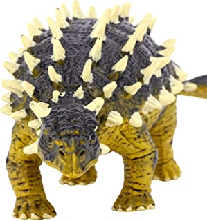 Gemini&Genius Saichania Action Figure Ankylosaurus Jurassic World Park Dino Toys Green Science Educational Realistic Design Nail Art Dragon Dinosaur Figure Gift for Kids & Classroom Prize Supplies.