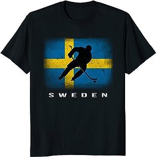 Sweden Ice Hockey T-shirt Swedish Flag
