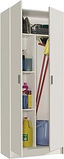 comprar comparacion Habitdesign 007142O - Armario Multiusos escobero de 2 Puertas, Color Blanco Mate, Medidas: 73 cm (Largo) x180 cm (Alto) x ...