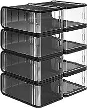 Haoqin Cocina PP Caja de Almacenamiento Alimentos Contenedor de Fruta Organizador Estante Caj/ón extra/íble Estiramiento Refrigerador Cesta de Almacenamiento Blanco