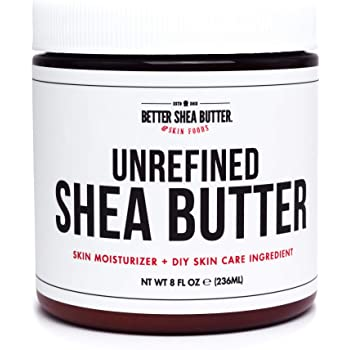 Unrefined African Shea Butter - Ivory, 100% Pure & Raw - Moisturizing and Rich Body Butter for Dry Skin - Suitable for All Skin Types - Use Alone or in DIY Whipped Body Butters - 8 oz Jar
