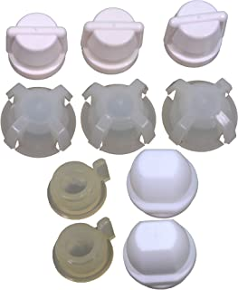 APDTY 50558 Windshield Wiper Transmission Linkage Replacement Plastic Bushing Repair Kit (Allows Repair On Numerous Windshield Wiper Transmission Links Instead Of Total Replacement; See Vehicle List)