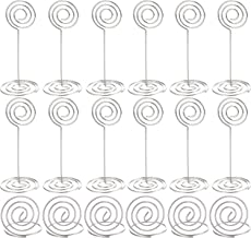 36 Pieces Table Number Holders Table Card Photo Menu Name Holder, 24 Pieces Stand Table Holder and 12 Pieces Ring Table Holder (Silver A)