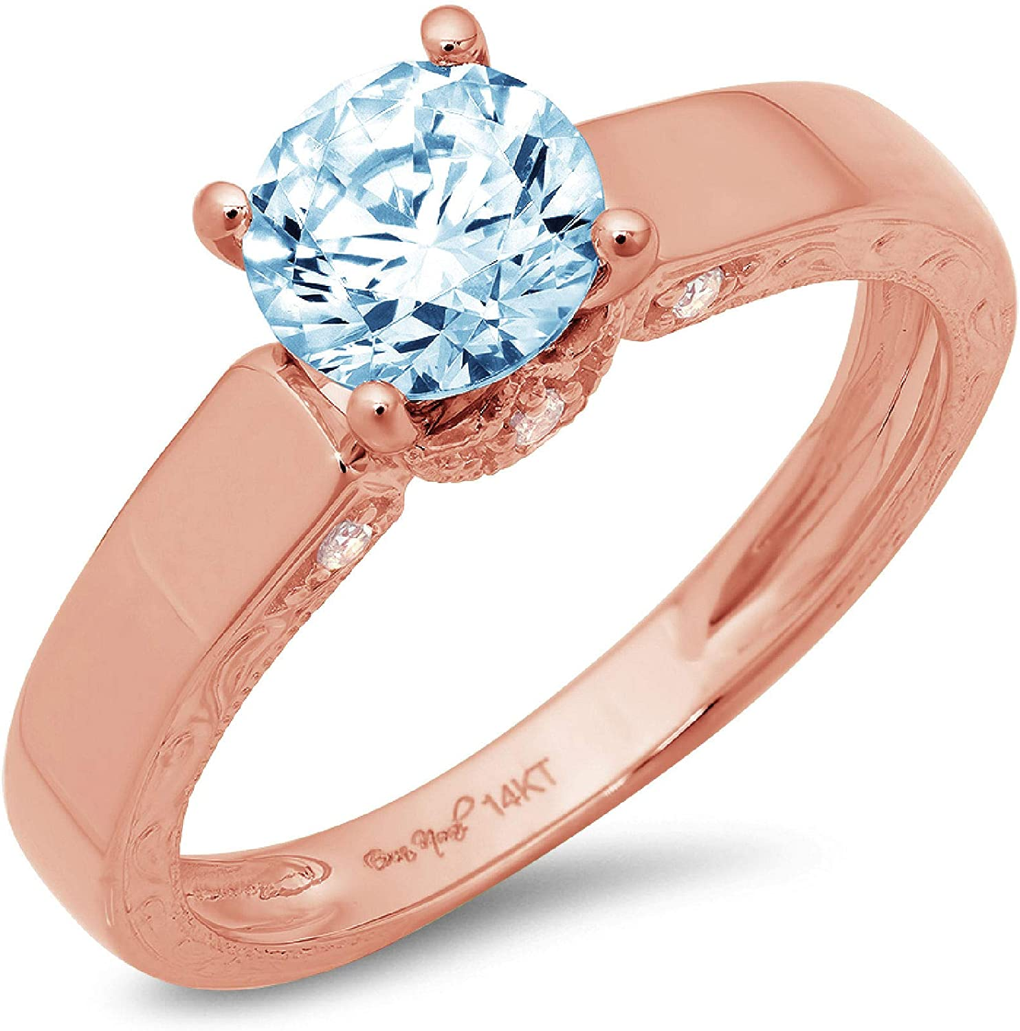 Luxury goods New York Mall 1.70ct Brilliant Round Cut Solitaire Genuine Flawless Blue Simul