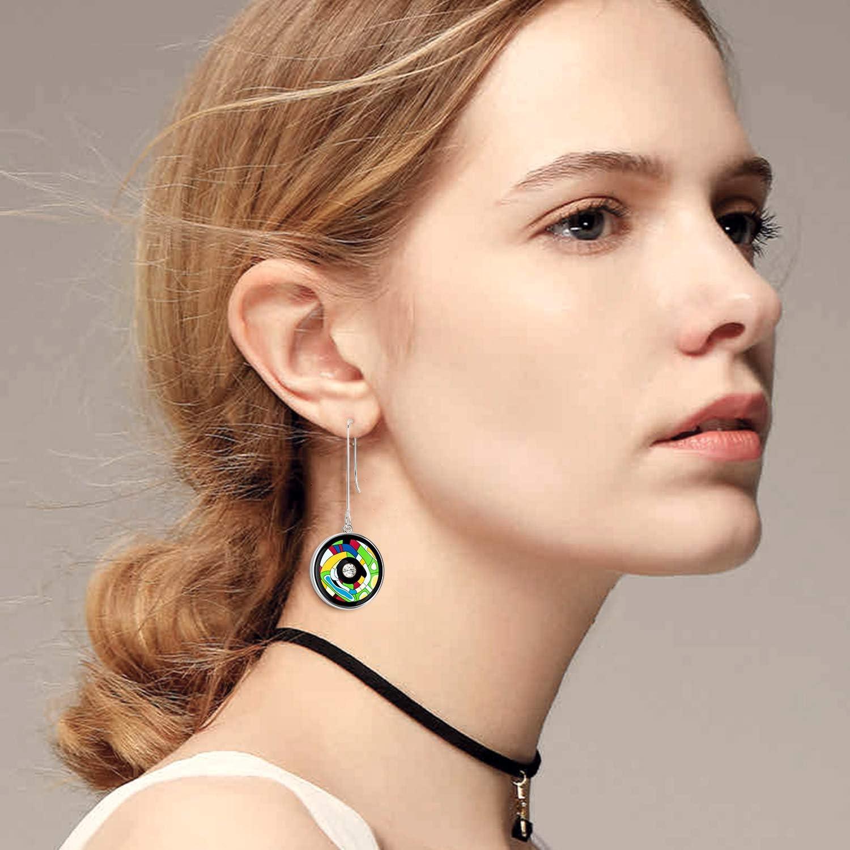 VAROLE 18K Gold Plated Round Drop Earrings Hypoallergenic High Polished Dangle Drop Minimalist Dangle Earrings for Women /& Girls