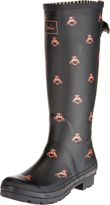 Joules Women's Wellyprint Mid-Calf Rubber Rain Boot