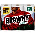 Brawny Paper Towels, 6 Large Rolls, Full Sheet, 6 = 8 Regular Rolls