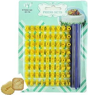 Gracelife 73 pcs Alphabet, Number, Letter Symbols Biscuit Fondant Cake/Cookie Stamp Impress Embosser cutter - Mold Tool Set