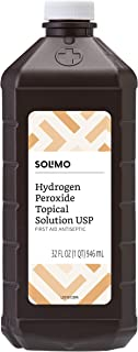 Amazon Brand - Solimo Hydrogen Peroxide Topical Solution USP, 32 Fl. Oz