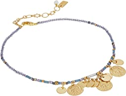 Chan Luu - Seed Bead Anklet with Hanging Coins