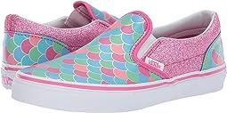 97965a24ca Vans Kids. Slip-On V (Infant Toddler).  40.00. (Mermaid Scales) Carmine  Rose True White