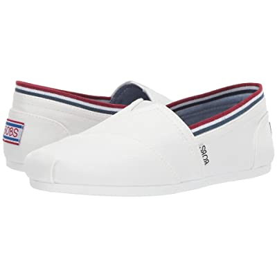 BOBS from SKECHERS Bobs Plush Preps Cool (White/Navy) Women