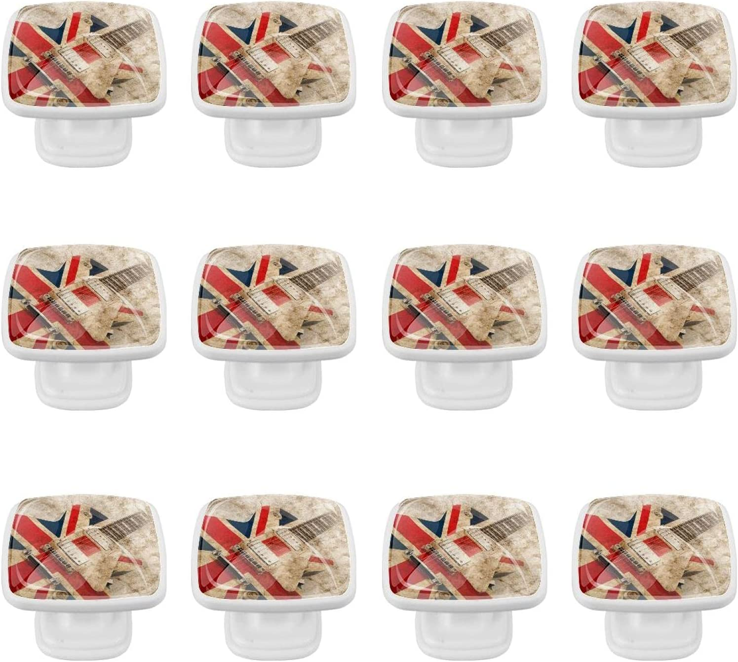 British Flag New life Guitar Black Kitchen Cabinet Wid 1.37 Inch Hardware Easy-to-use