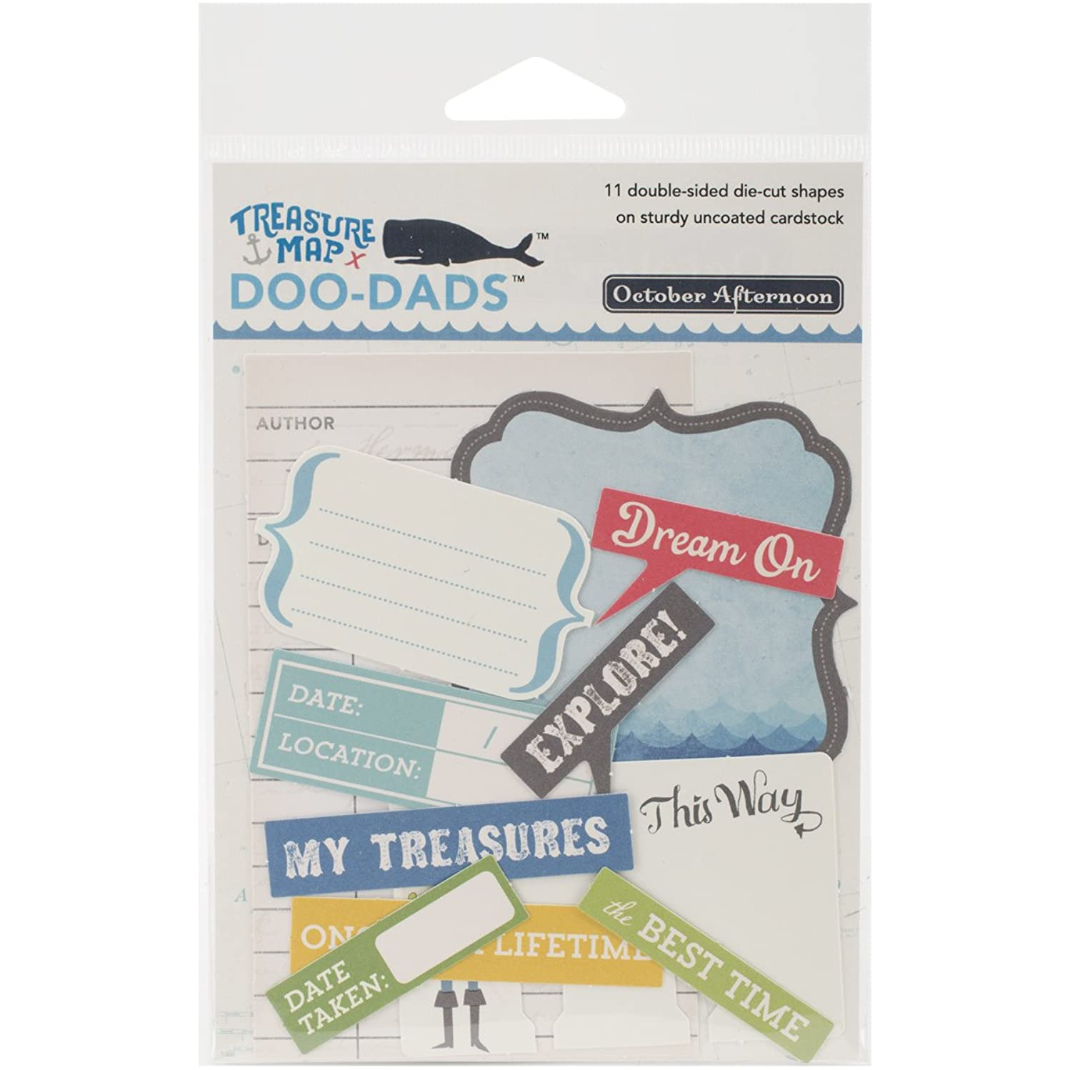 October Afternoon Dads-Cuts-Doo Treasure Map Cardstock Die