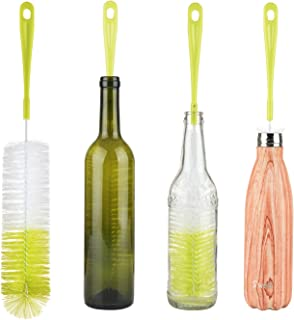 "16"" Long Bottle Brush Cleaner for Washing Wine, Beer, S'well, Decanter, Kombucha, Hydroflask, Thermos, Glass Jugs and Long Narrow Neck Sport Bottles"
