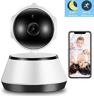 Cámara de vigilancia IP (WLAN orientable 350°/100° con audio de 2 vías monitor de bebé visión nocturna detección de movimiento compatible con alarma remota y control mediante aplicación móvil)