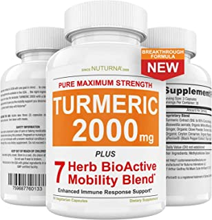 Sponsored Ad - Turmeric Curcumin 2000 mg with BioPerine Highest Potency Premium Joint & Healthy Inflammatory Support with ...