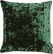 Riva Paoletti Roma Square Cushion Cover - Emerald Green - Crushed Velvet Look and Feel - Hidden Zip Closure - Machine Wash...