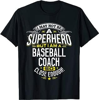Baseball Coach TShirt Gift Idea Superhero Baseball Shirt