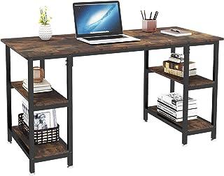 Dripex Bureau Informatique, Table d'Ordinateur avec 4 Étagères, Poste de Travail PC et Ordinateur Portable pour Bureau et ...