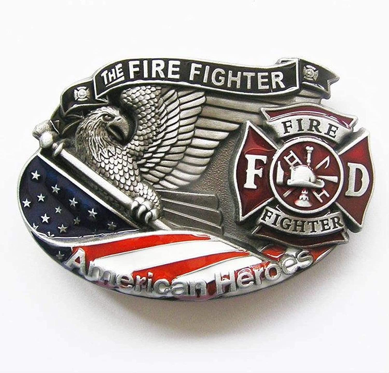American Popular Hero Firefighter Belt BUCKLE-3D039 Buckle Womens Branded goods